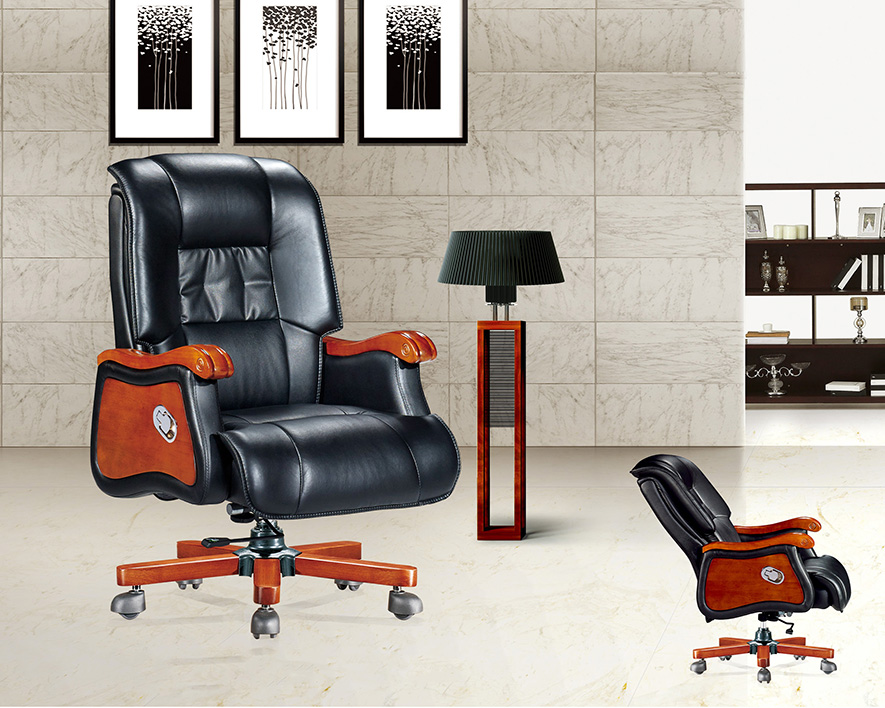牛皮大班椅HZBY-XP002