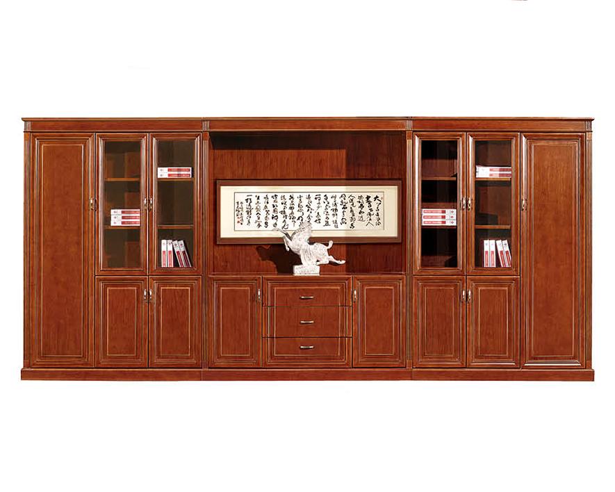 实木书柜HZSMSG-001